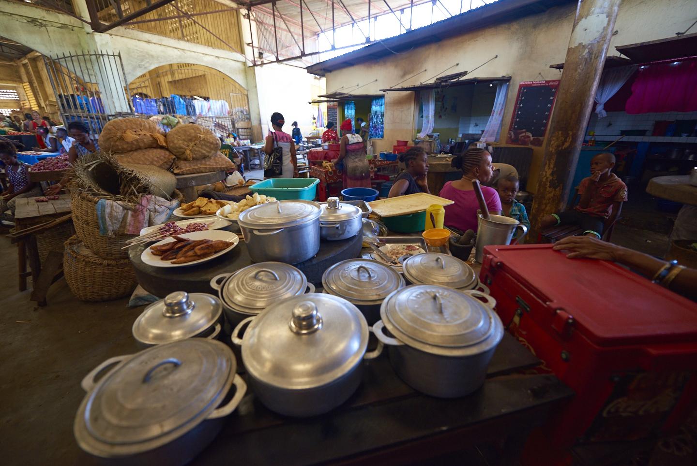 cucina nel mercato