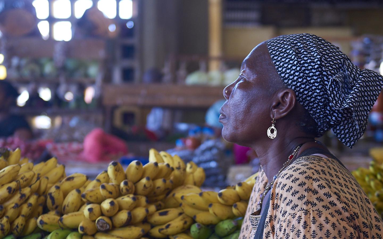 venditrice di banane
