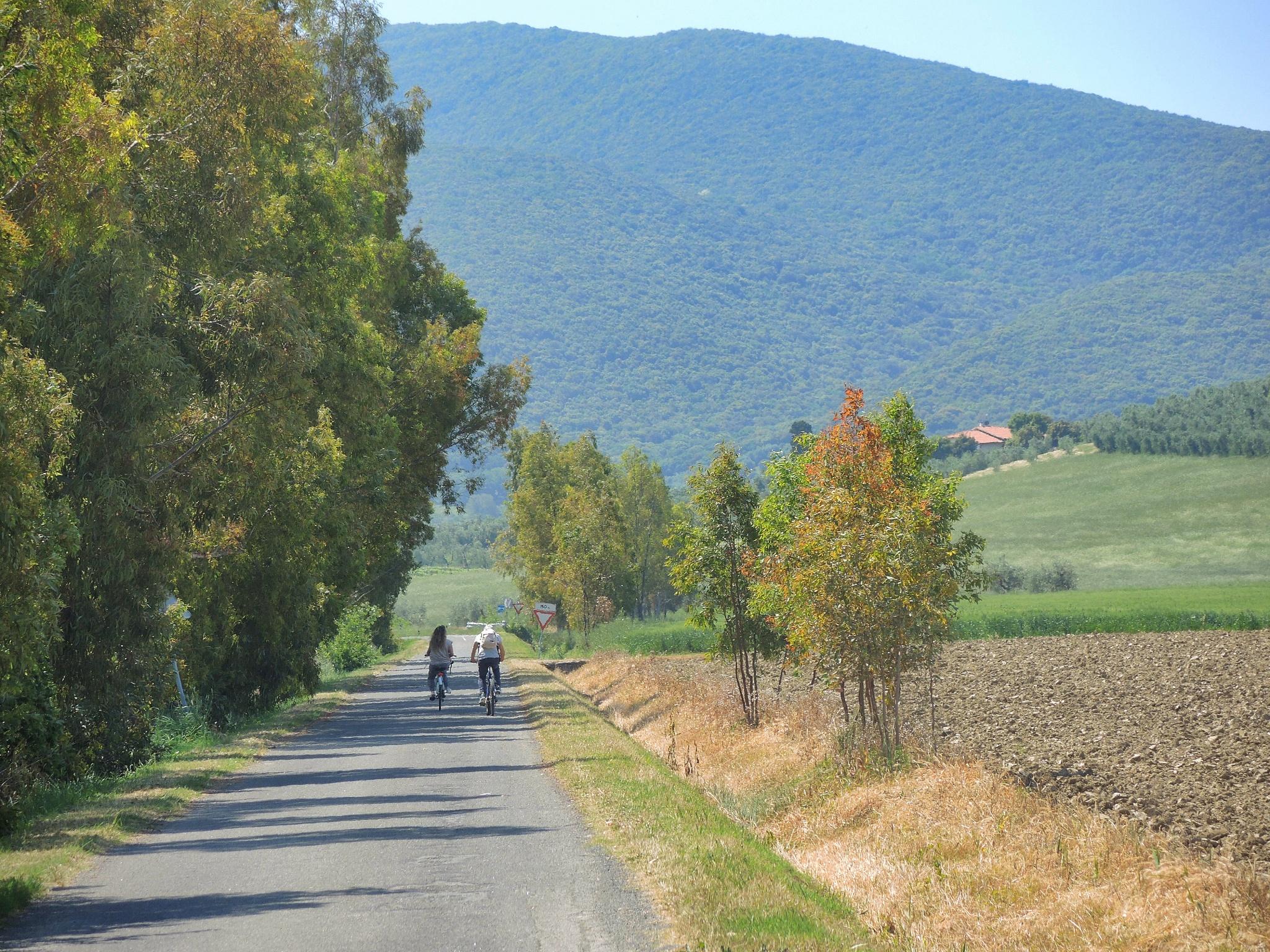 percorso A7 Uccellina bici